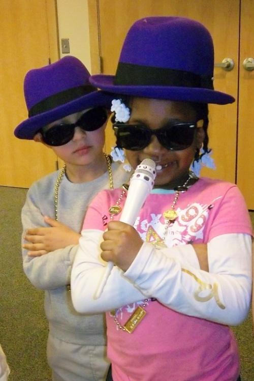 two children in sunglasses