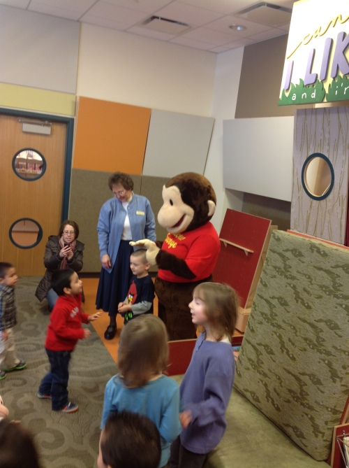 Curious George at storytime