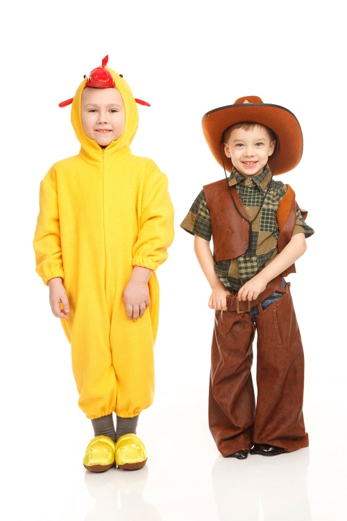 Children wearing costumes