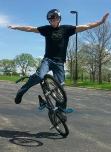 Matt Wilhelm on a bike