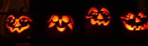 scary halloween pumpkins by tracy