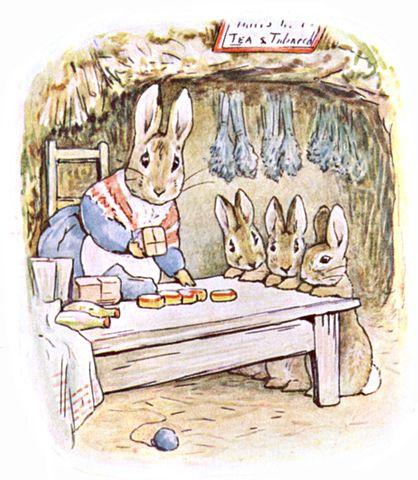 418px-Beatrix_Potter,_Benjamin_Bunny,_Mrs_Rabbits_shop