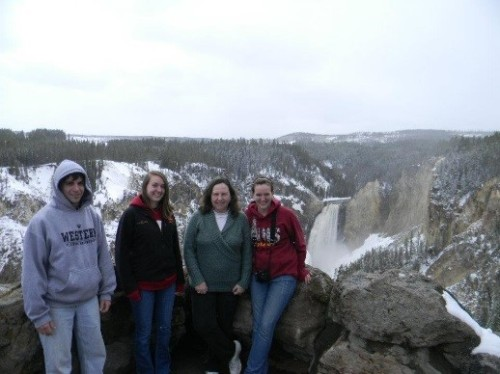 My kids and me at Yellowstone NPS
