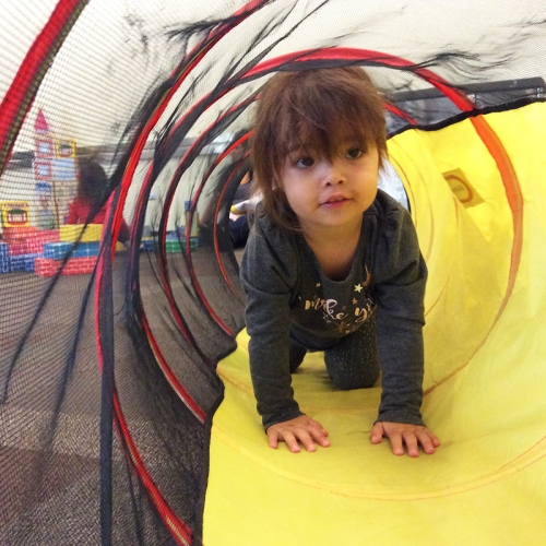 preschool activity time (tunnel)